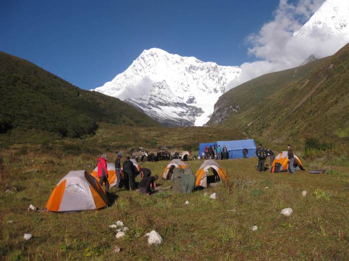 Chomolhari base camp