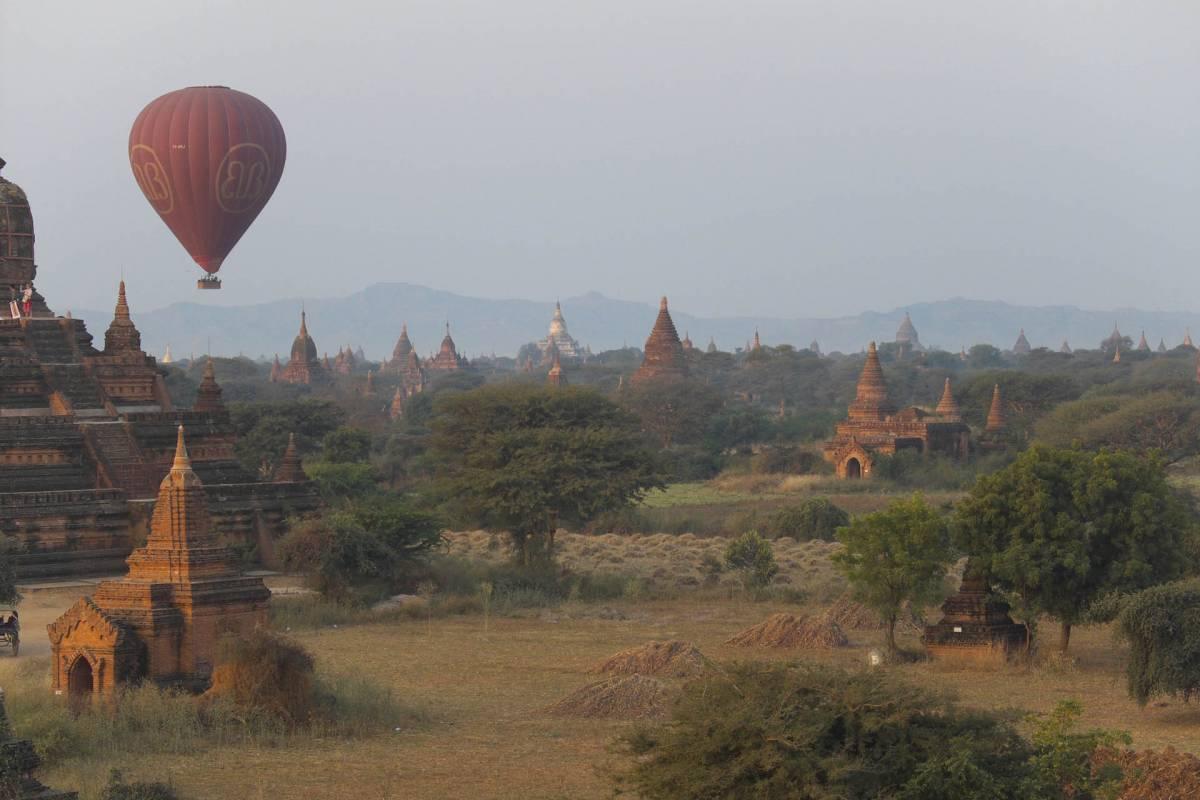 Absolutte højde punkt var Ballon turen over Bagan