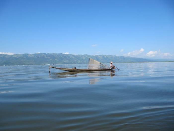 Fisker på Inlesøen