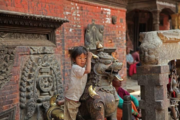 Swayambhunath, abetemplet