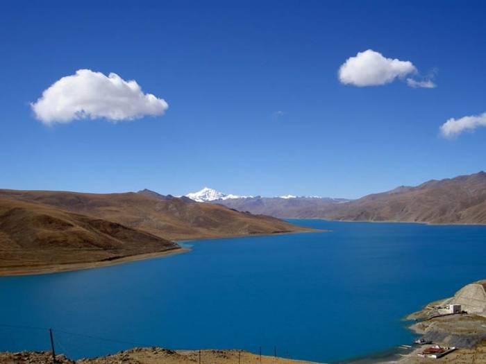 Yamdrok-Tso-i-Tibet