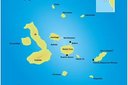 Galapagos kort