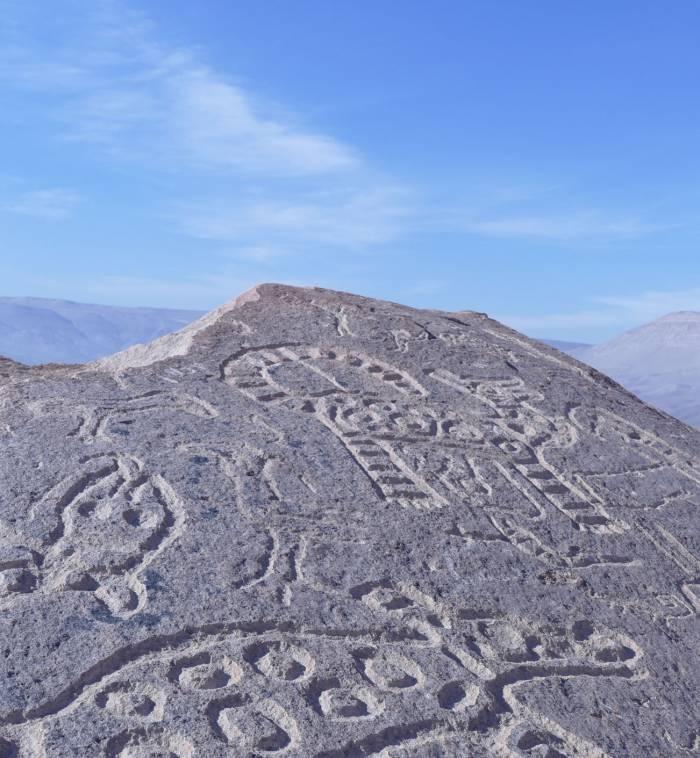 Toro Muerto petroglyf