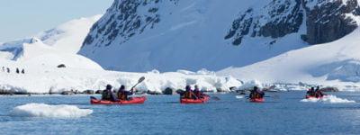 Sejl i kajak omkring Antarktis
