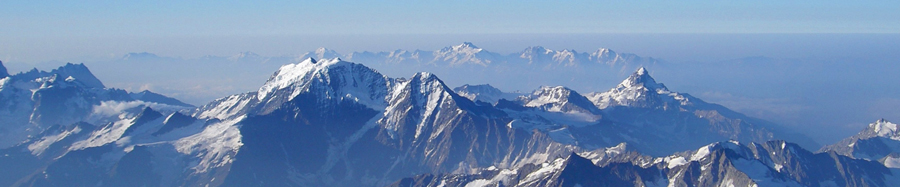 Bjergkæde set fra luften