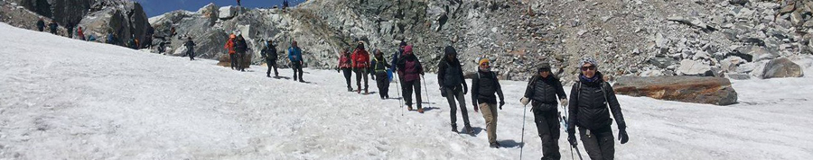 Trekkere i Himalaya