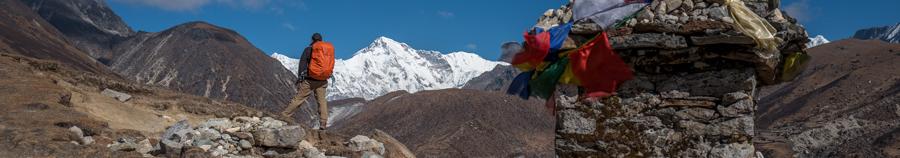 Udsigt fra Everest Base Camp