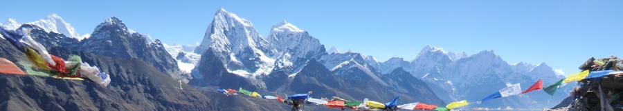 Himalaya med bedeflag