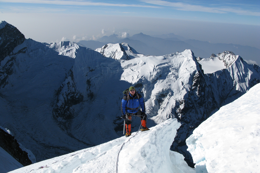 randspalte på Mera Peak