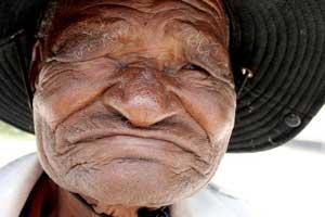 Ældre mand i Botswana