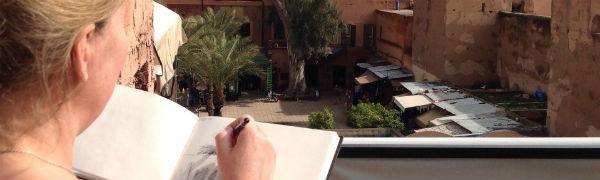 Tag med Kipling Travel på malerrejse i Marokko