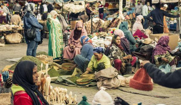 Der er mange markeder i Marokko