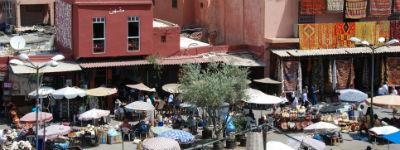 der er store markeder i Marrakech