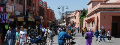 Gaderne i Marrakech er meget smukke