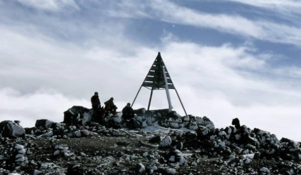 Toppen af bjerg