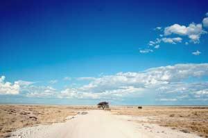 Grusvej i Nambia