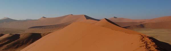 Røde sandbjerge i Sossusvlei