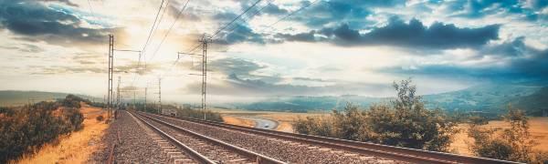 Tag på togrejse i Sydafrika