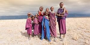 Her ses den lokale befolkning i Tanzania