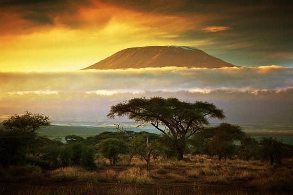 Kilimanjaro er Afrikas højeste bjerg og ligger i Tanzania