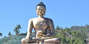 Se smukke skulpturer af Buddha i Bhutan