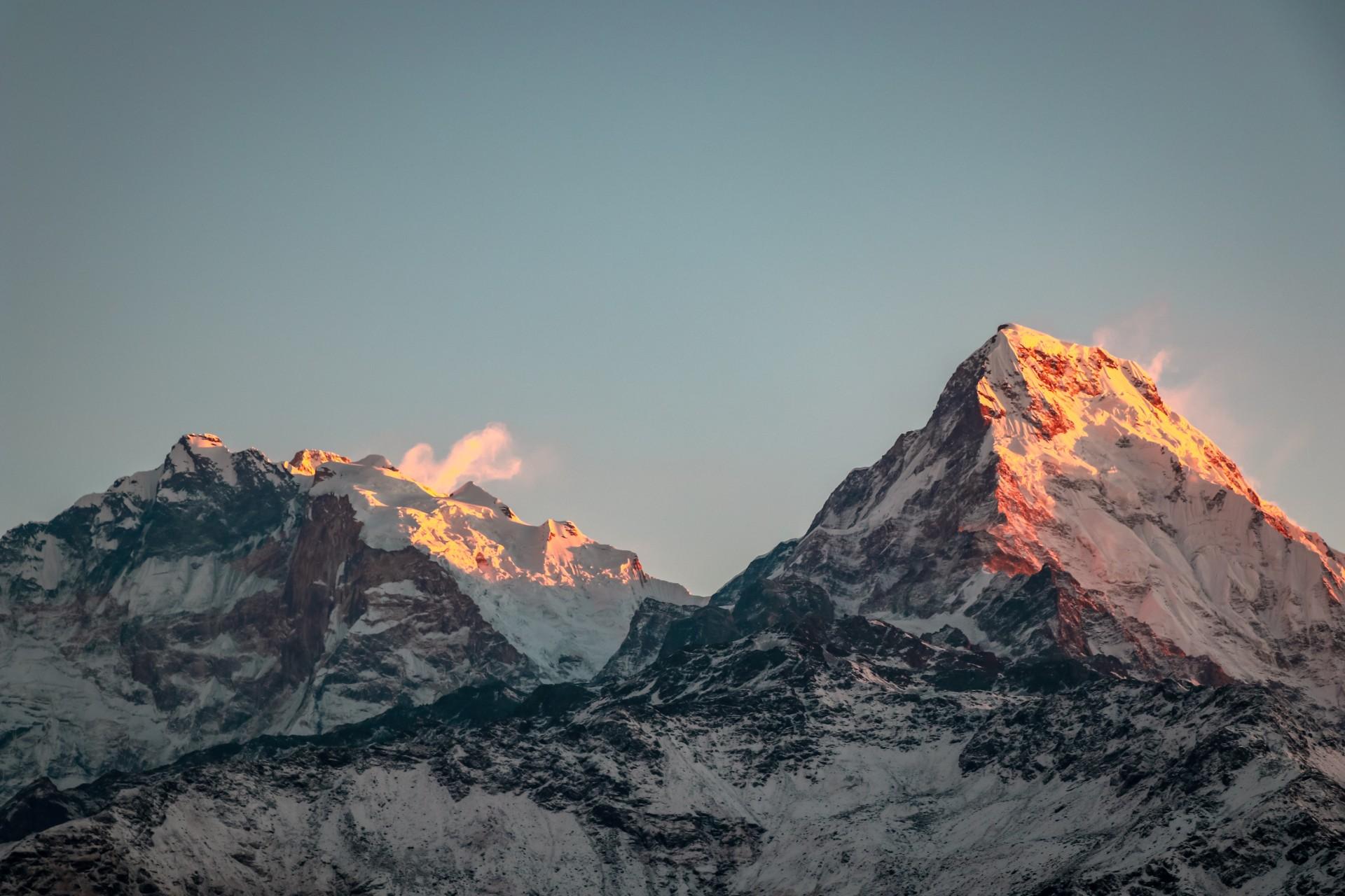 Tag på bjergbestigning i Asien