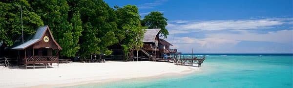 Badeferie (og strande) på Borneo