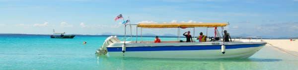 Rejs til Borneo og tag til Gaya Island med speedbåd
