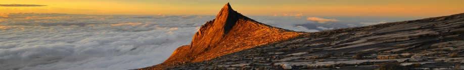 Rejser til Borneo byder på smukke bjerge som Mount Kinabalu