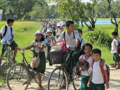 Cykler i Burma