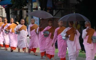 Det officielle sprog i Myanmar er burmesisk