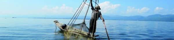 Inlesøen i Myanmar er en populær destination