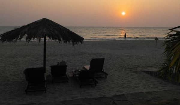 Strandområdet ved Ngapalis er velbesøgt