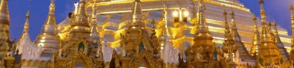 Shwedagon Pagoden i Myanmar har overlevet landets stridigheder gennem 2.500 år