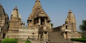 Khajuraho templer i Indien