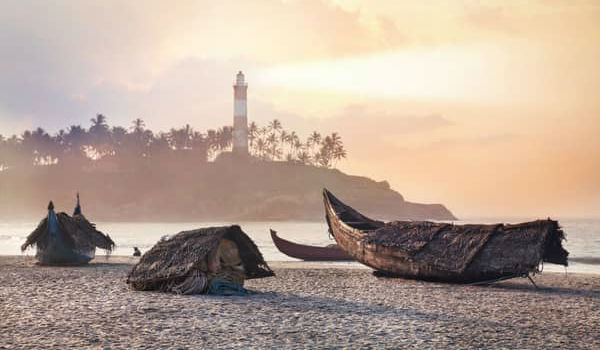 Kovalam strand i Indien