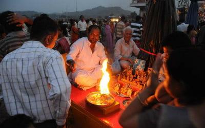 Rishikesh i Indien