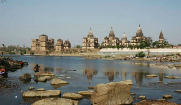 Smuk Ganges flod i Indien