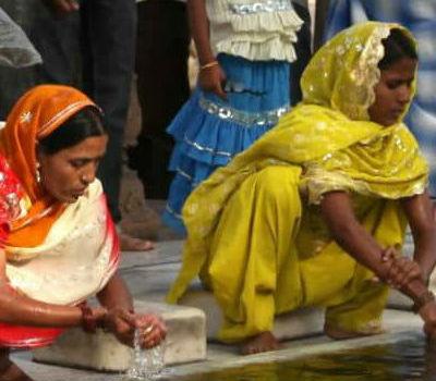 Kvinder i Delhi i Indien