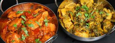 Indisk mad med kylling og karry