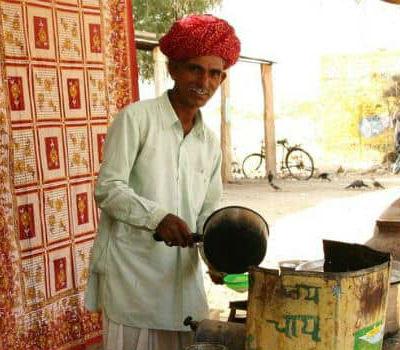 Mand i Chaiwallah i Indien