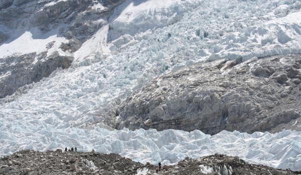 Oplev den imponerende gletsjer ved Khumbu Icefall