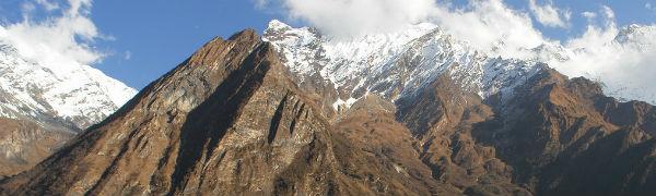 Tag på bjergbestigning i Nepal