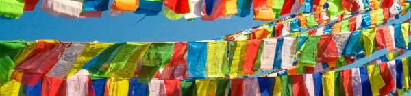 En festival i Nepal er yderst farverig