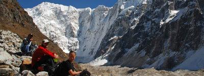 Når man holder pause på sin tur i Nepal er det altid med en smuk udsigt