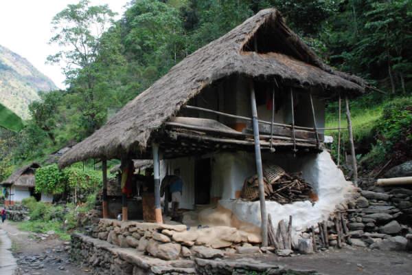 Flot landsby i Nepal