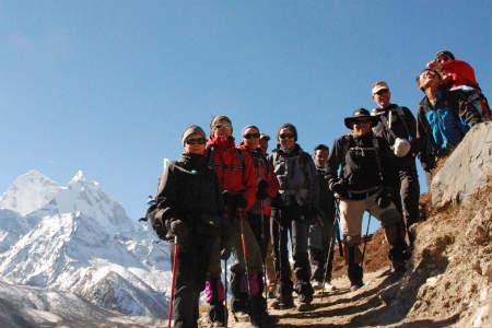 Kathmandu er Nepals hovedstad og byen ligger i en kæmpe dal