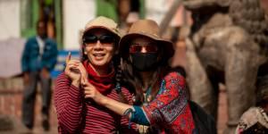 Klimaet i Nepal kan være meget støvet i byerne