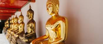Templet har den største samling af buddhaer
