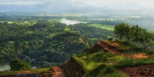 Fra Sigiriya kan du se ud over Sri Lankas smukke natur